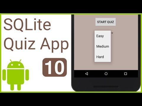 Multiple Choice Quiz App with SQLite Integration Part 10 - SELECT DIFFICULTY - Android Tutorial