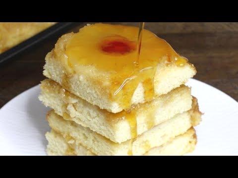 Pineapple Upside Down Pancakes (Sheet Pan)