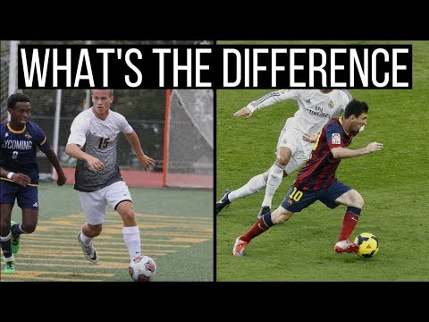 The Difference Between Amateur, College, and Pro Soccer