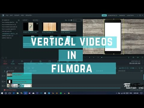 Converting Vertical Video To Horizontal using FILMORA Video Editor  | TecHelper