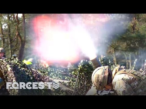 Live Mortar Firing In Germany With The 'Tigers' | Forces TV