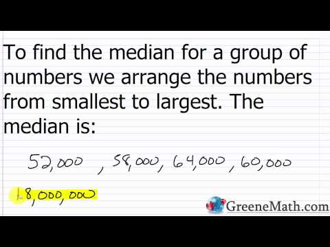 Finding the Mean, Median, and Mode