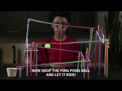 How to Build a Straw Roller Coaster | STEM Tutorial | Valero