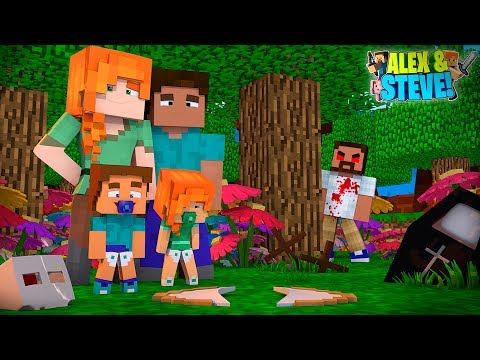 Minecraft STEVE COMES BACK FROM THE DEAD TO SAVE HIS FAMILY!! Life of Alex & Steve
