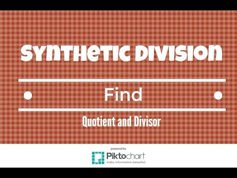 How to use Synthetic Division to find the Quotient and Remainder