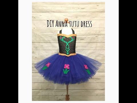 Anna Inspired Tutu Dress | Frozen Costume | DIY Tutu
