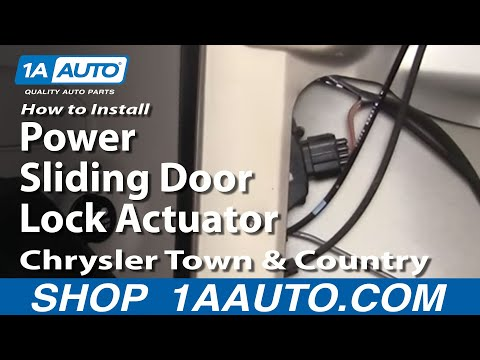 How To Install Replace Power Sliding Door Lock Actuator Chrysler Town and Country 01-07 1AAuto.com