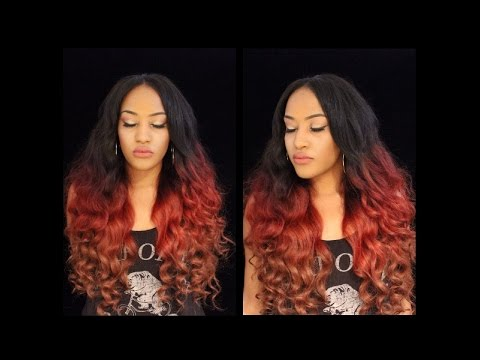 Burgundy ,red, blonde brown ombre hair color TUTORIAL