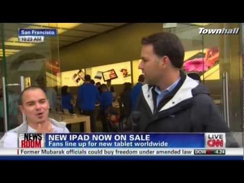iPad 3 Buyer Flips Off CNN During Live Coverage