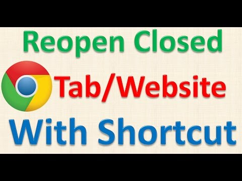 Google Chrome Trick no 10 Reopen Recently Closed Websites or Tabs instantly using shortcut keys