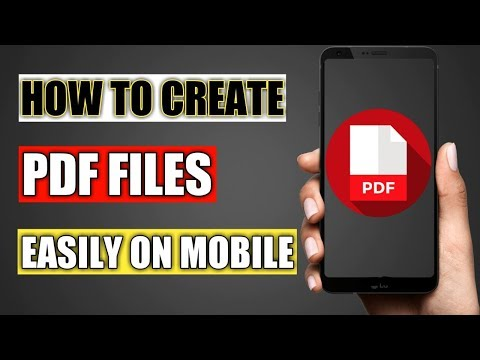 How to Create PDF File in Mobile | [Hindi/Urdu]