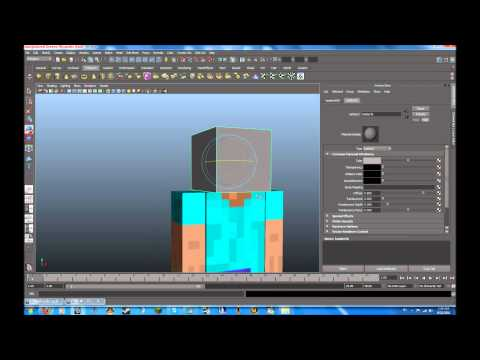 Autodesk maya tutorial minecraft character modeling rigging part 2