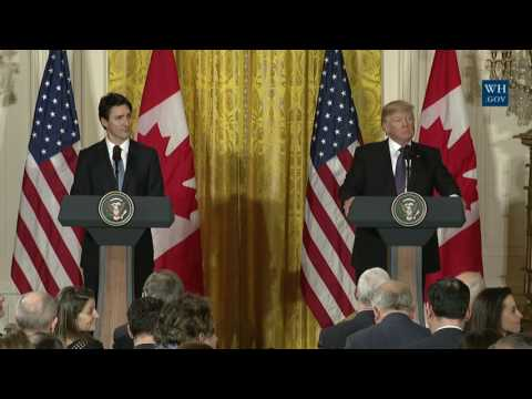 President Trump and Prime Minister Trudeau