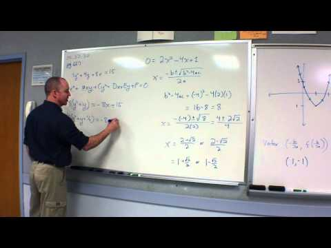 2012.02.08 Precalculus Honors Parametric Parabolas