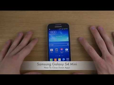 How To Close Down Apps On Samsung Galaxy S4 Mini