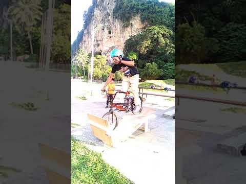 DIY BMX Racing Start Gate Practise by Abg Kayu & RR