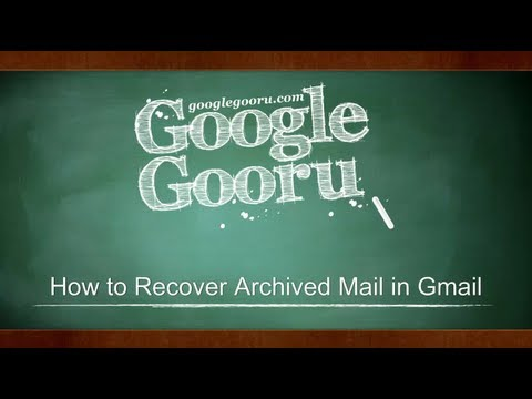 How to Recover Archived Mail