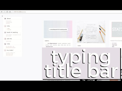 GET A TYPING/MOVING TITLE BAR ON TUMBLR