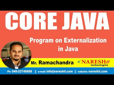 Core Java Tutorials | Program on Externalization in Java ? | Mr.Ramchandra