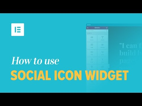 How to Add Social Media Buttons to WordPress with Elementor Page Builder