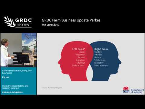 Pip Job on building resilience in family farm business | Farm Business Update Parkes | 2017