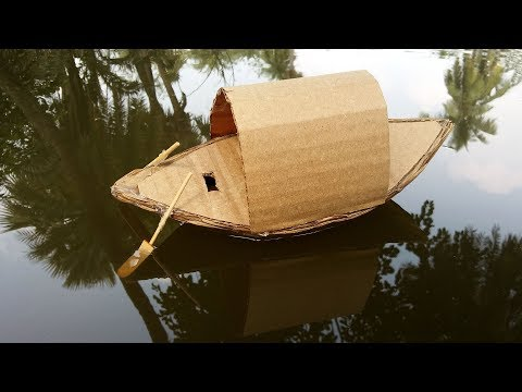 How to make a Boat with Cardboard