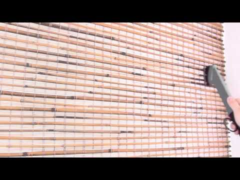 How to clean Woven Wood/Bamboo Shades from Selectblinds.ca