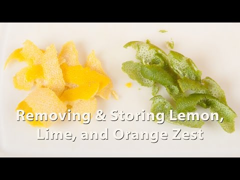 How to Remove & Store Lemon, Lime, and Orange Zest (HC 101) DiTuro Productions