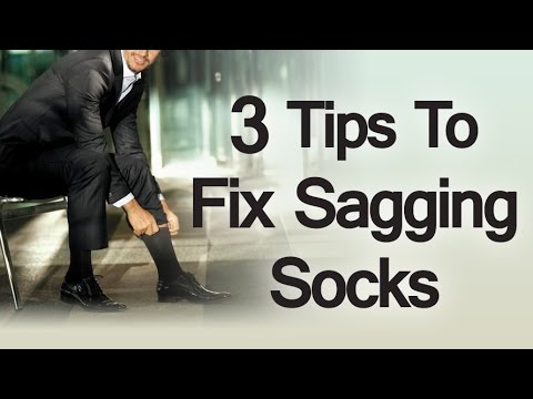 3 Tips on How to Fix Sagging Socks   How to Deal with Socks That Just Won't Stay Up