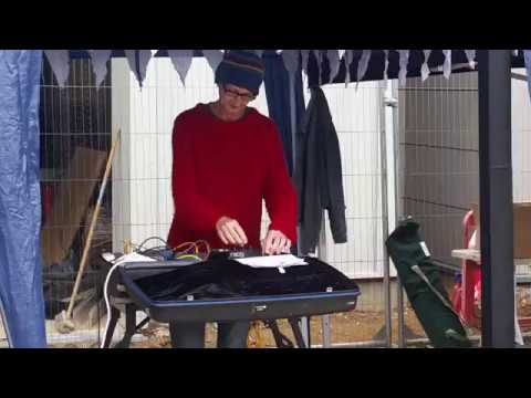 Suitcase synths at a shellfish festival