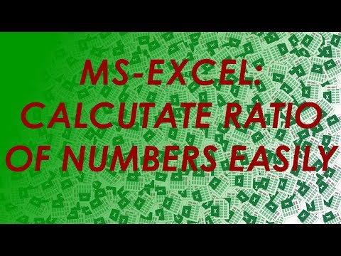 How To: Calculate a ratio from two numbers in Excel -Simplified