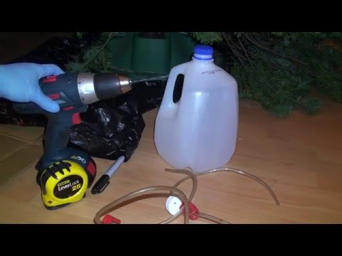 How to make an Inexpensive External Christmas Tree Watering System (Reservoir) DIY