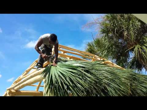 Building the tiki hut part 3