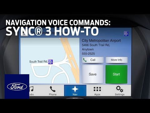 SYNC 3 Navigation Voice Commands | SYNC 3 How-To | Ford