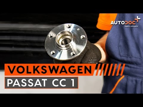 How to replace rear wheel bearing on VW PASSAT CC 1 TUTORIAL | AUTODOC