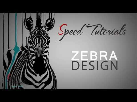 Speed Tutorial : Zebra Graphics Design