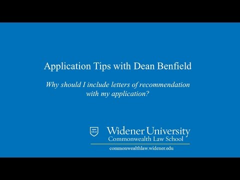 Letters of Recommendation:  Law School Application Tips | Widener Law Commonwealth