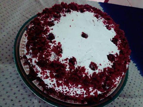 റെഡ് വെൽവെറ്റ് കേക്ക് /Red velvet cake with out an oven