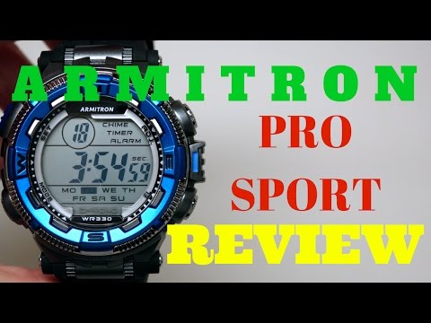 (4K) Armitron Pro Sport Men's Watch Review Model: 40/8301