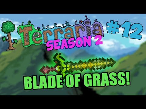 Let's Play Terraria (1.2.4) iOS/Android - Getting The Blade of Grass! - 12