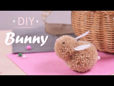 DIY Bunny | How To Make Bunny With Yarn Pom Pom