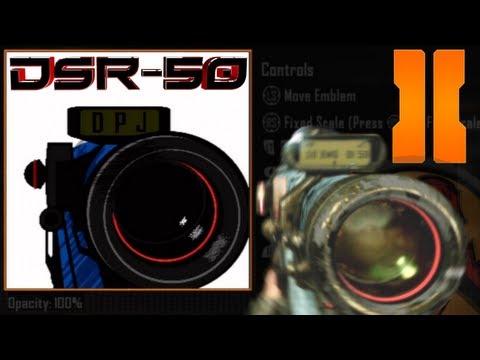 COD Black Ops 3 & Advanced Warfare: DSR-50 Quick Scoping Emblem Tutorial (w/ ballistics CPU)
