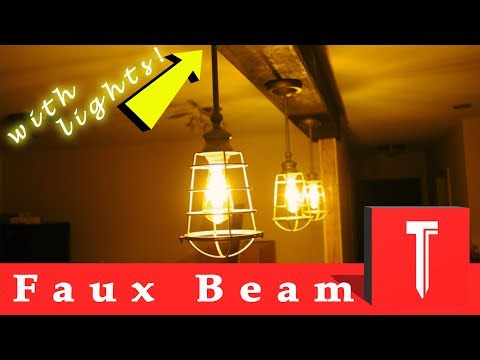 How to Make EXPOSED CEILING BEAMS  **faux wood beam**