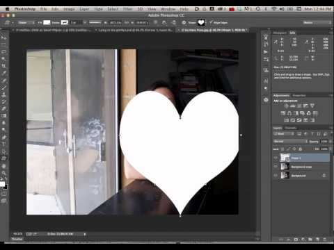 Clipping a picture into a Custom Shape Tool Layer in Photoshop CC
