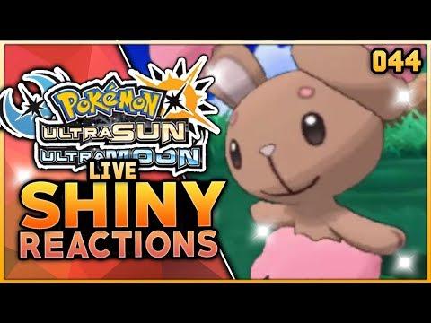 LIVE SHINY BUNEARY WITH NO SHINY CHARM! Pokemon Ultra Sun & Ultra Moon Live Shiny Hunting Reaction