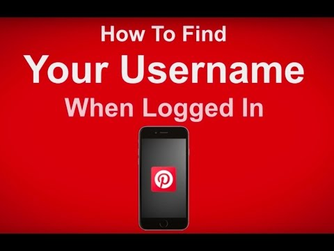 How To Find Your User Name When Logged In To Pinterest