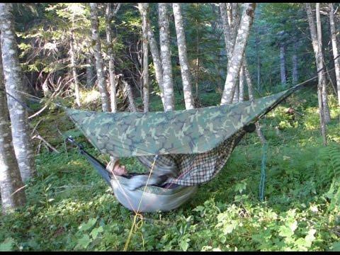 DIY Hammock Camping Setup 2016