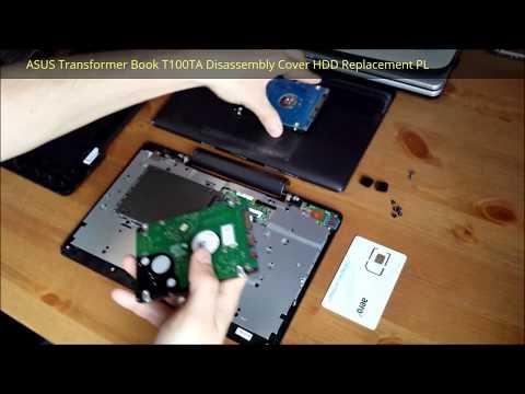 ASUS Transformer Book T100TA Otwarcie Obudowy