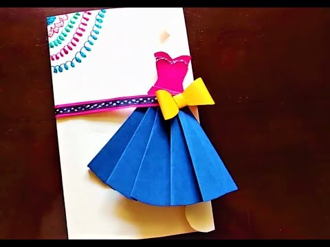 Birthday Card/ Card for Friend/ Card for Mother/ Dress Card