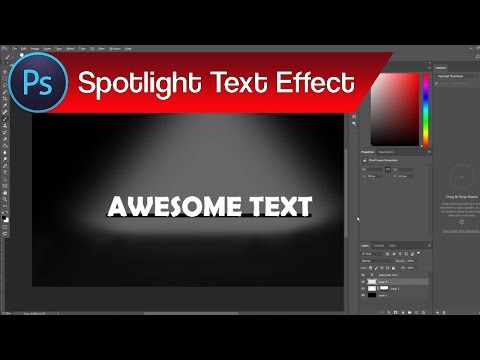 How to Add Spotlight in Photoshop – Spotlight Effect for Text in Photoshop